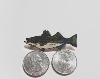 Vintage Trout Fish Brooch Pin By William Spear Alaska Enamel 1985