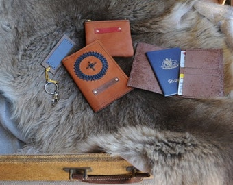 WILD HIDE RANGE Kangaroo Leather Passport Wallets w Hand Laced Design