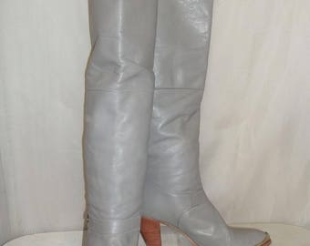 Vintage Womens Dingo BOHO Pirate Cuff OTK Over the Knee Leather Tall Boots Size 8M