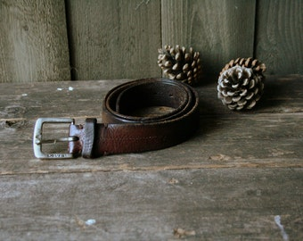 Levis Rustic Leather Belt Nicely Worn Vintage From Nowvintage On Etsy