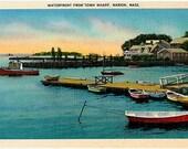 Vintage Massachusetts Postcard - Marion Waterfront at Sunset (Unused)