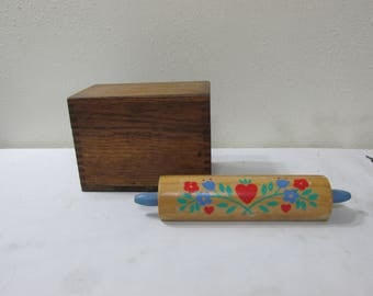 Wood Recipe Box Dovetail  Oak Plus a Card Holder