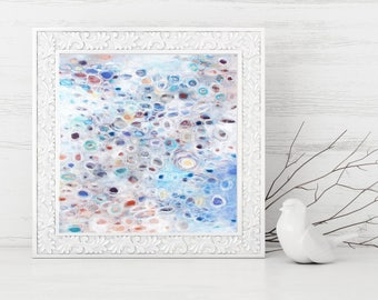 Abstract Printable Art - Abstract Art Print - Square Art Print - Abstract Painting - Pastel Colors - Instant Download - Modern Art 8x8 10x10