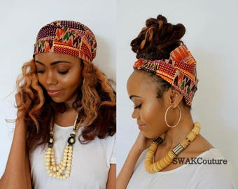 Satin Lined Wide Headband Wrap Ankara Head Wrap Pineapple Bun Wrap African Print Wrap - Ayanna or Choose Your Color