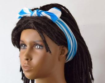 Girls Stripe Headband - Girls Hair Acessories - Hair Bow - Headbands - Choose a Color