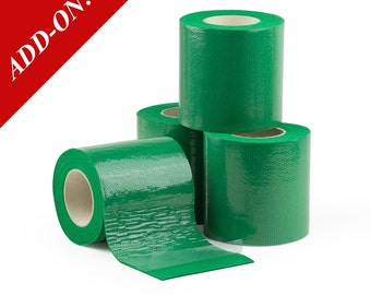 "3"" Wide Double Sided Sticky Felt Tape - Green, 6.5 Feet Long Rolls, Multiple Pack Sizes Available, Add-On Item"