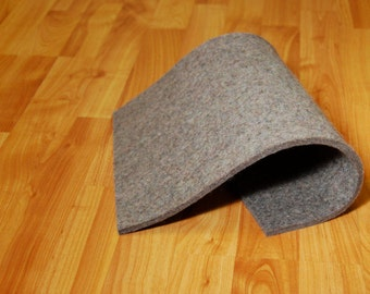 "High Density Industrial Wool Felt by the Foot - Natural Gray, SAE F3 Grade, 72"" Wide, 1/8"" to 1"" Thicknesses Available"