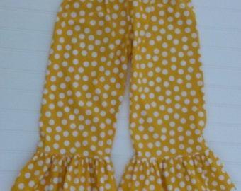 Yellow Dot Ruffle Pants