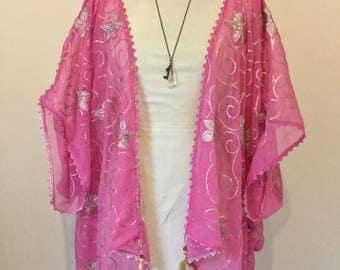 Pink 1920's vintage kimono.