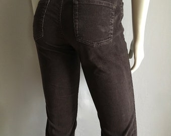 Vintage Women's 90's Gap Corduroy Pants, Brown, Straight Leg (S)