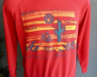 Minoan Art 1980s soft vintage sweatshirt shirt size medium/large