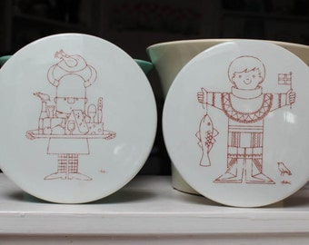 Two B & G Denmark Trivets Pair Designer Antoni Wall Plaque VINTAGE by Plantdreaming