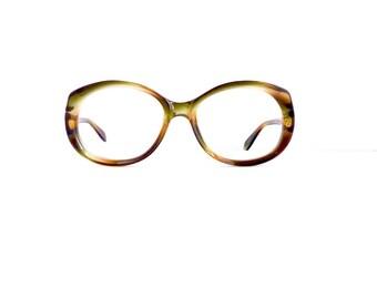 60s Rodenstock Brand Off Round Eyeglasses Women's Vintage 1960's Tortoiseshell Frames #M741 DIVINE