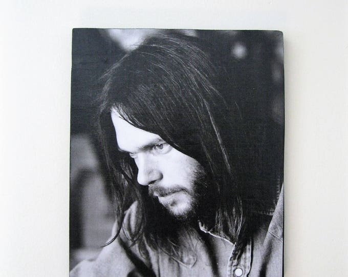Neil Young Vintage print wall art / Hippie Bohemian home decor / Musician print wall decor