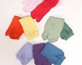 Hand-Dyed Cotton Nylon Ankle Tabi Socks