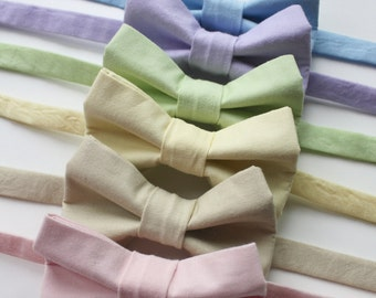 Little and Big Guy BOW TIE - Spring Easter - Pastel Solids Collection (Newborn-Adult) - Baby Boy Toddler Teen Man