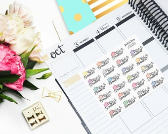 JW Broadcast Glitter Student Vertical Planner Sticker Glossy - Stick to Your Story