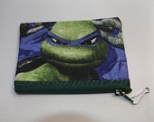 Teenage Mutant Ninja Turtles  Fabric Coin Purse- Handmade    TMNT  Mirage   Donatello,