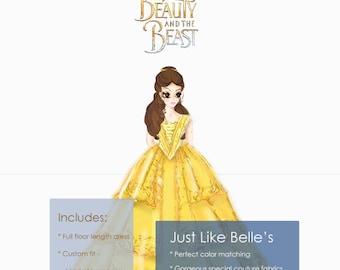 Belle Dress Beauty and the Beast 2017 - New Belle Costume for Women, 2017 Emma Watson Belle dress for Prom Dress, Halloween cosplay