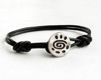 Spiral Leather Bracelet (Many colors to choose)
