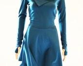 Women Dress/ Long Sleeves Dress/ Midi Dress/ Winter Dress/ Womens Dress/ Cocktail Dress / Purple Dress