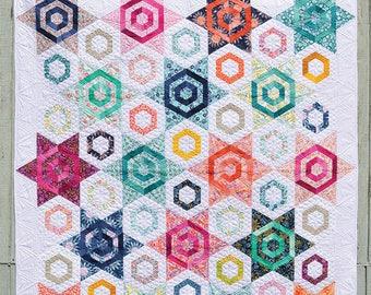 Aurora Quilt Pattern - Star Quilt Pattern - Fat Quarter Friendly Quilt Pattern - Color Girl Quilt Pattern
