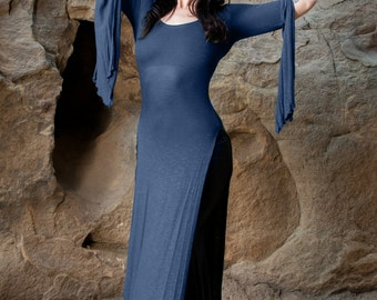 NEW Plus Size Available: The Navy Blue Panel Dress by Opal MoonDesigns (Sizes XS-3XL)