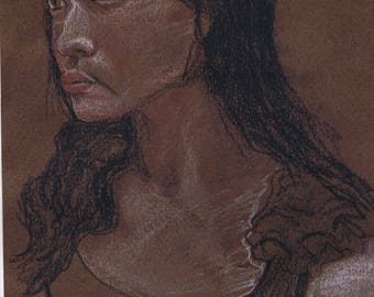 Portrait of Jaylene on brown paper