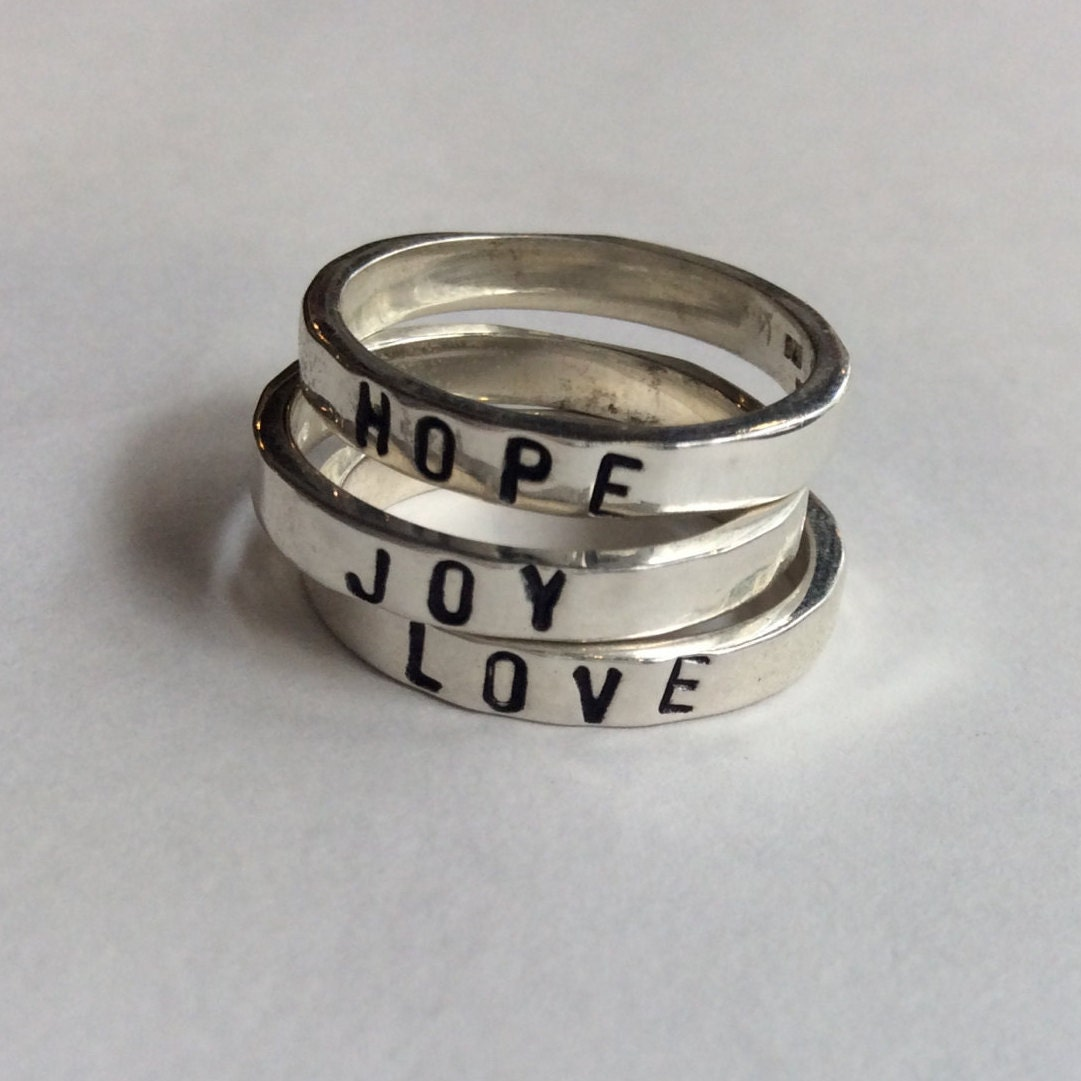 stackable name rings stacking rings rings promise