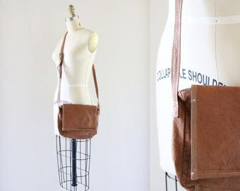 cross body leather saddle bag