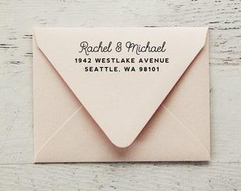 Self-Inking Return Address Stamp, Return Address Stamp, Custom Stamp, Personalized Stamp, Wedding Address Stamp, Wood Stamp - Style #86
