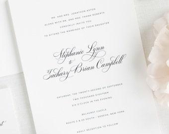 Delicate Elegance Wedding Invitations - Sample
