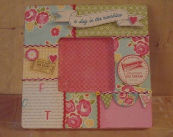 October Afternoon A Day in the Sunshine Decoupaged Picture Frame