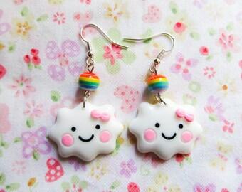 Kawaii Cloud Earrings, Cute Earrings, Cute Cloud Earrings, Kawaii Earrings, Cute, Kawaii, Teen/ Girls Gift Idea
