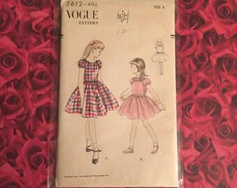 50's Vintage Vogue Girls Dress