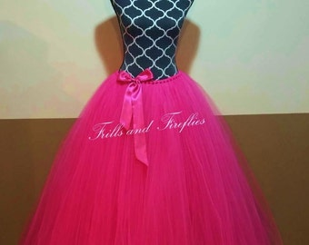 Hot Pink Tutu Skirt ...Great for Flower Girls, Weddings, Special Occasions, Photo Shoots ...in Baby to Adult Sizes..AVAILABLE in MANY COLORS