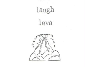 Live Laugh Lava Card | Funny Volcano Geology Humor Earth Science Nature Pun Sarcastic Nerdy Indie Weird Men Women