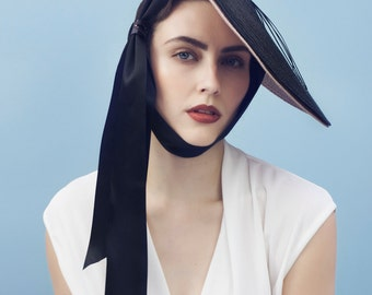 The Paulette Saucer Hat, Straw Summer Millinery for the Races.