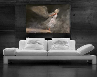Angel painting Angel artwork Canvas print