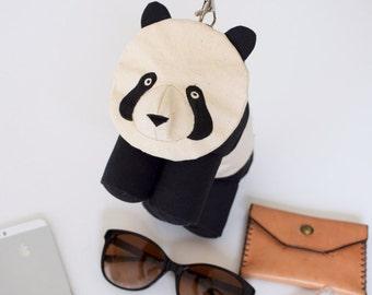 Panda Purse with Detachable Leather Wristlet by Dandyrions / Women's Purses / Handbags