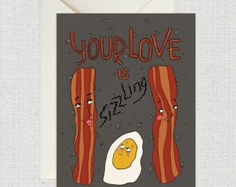 Your Love is Sizzling  Card