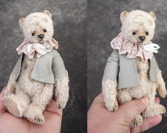 "Mary, Vintage styled Miniature 6 "" Mohair Artist Teddy Bear from Aerlinn Bears"