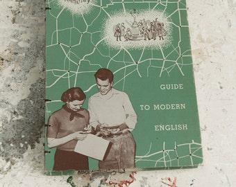 1955 MODERN ENGLISH Vintage Sketch Notebook Journal