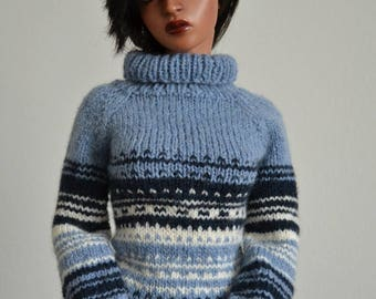 Dreamer, hand-knitted sweater for Iplehouse SID, EID or Dollshe boys, 70cm