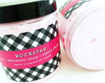 Whipped Soap Souffle, Shaving Soap, Bath Whip, Shaving Cream, Soap Whip, Shave Cream, Soap, RockStar,
