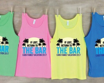 If Lost, Return to the Bar Family Vacation Beach Tanks