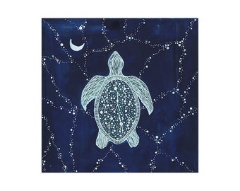 Studio Sale // Turtle Art // nursery art // Journey of the Sea Turtle