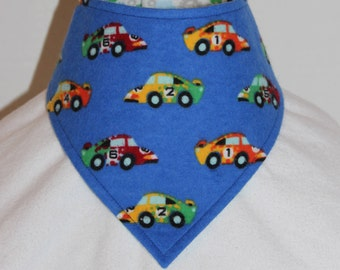 Reversible Race Car Bandana Bib