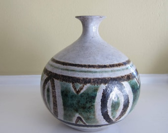 Vintage Pottery Craft Weed Pot Vase