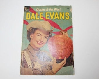 Dale Evans, Queen of the West, No. 4, July-Sept, 1954, Dell Comic, Vintage Comic Book, Cowboys, Western